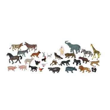 30 figuras de Animales Granja y Salvales Miniland 25140