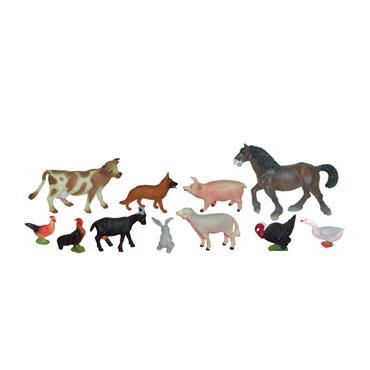 11 figuras de Animales Granja Miniland 27420