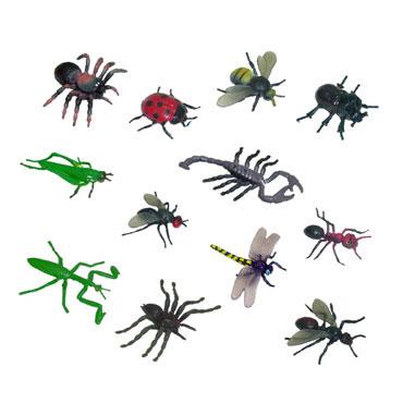 12 figuras de Insectos Miniland 27480