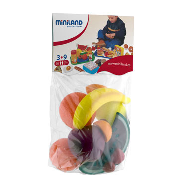 15 figuras de Frutas Miniland 30581