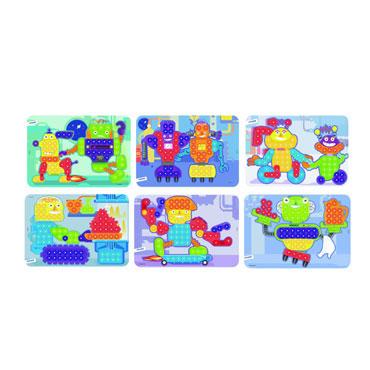 6 láminas robots para pinchos Miniland 31863