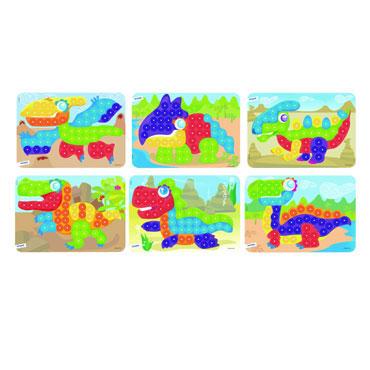 6 láminas dinos para pinchos Miniland 31864
