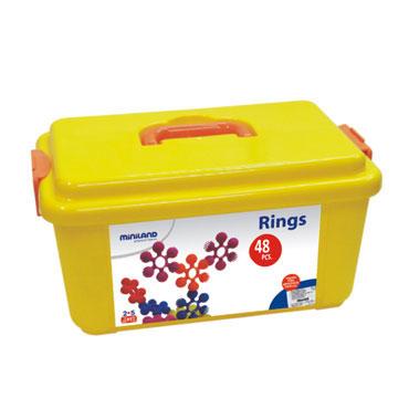 Interstar Rings 48 piezas Miniland 94013