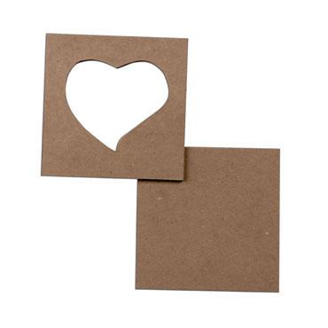 5 marcos corazón 9x9 cm. Niefenver 0700143