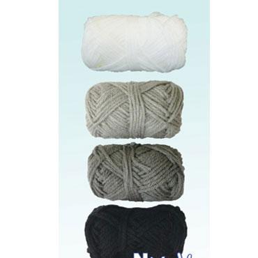 4 ovillos lana tonos grises Niefenver 1100100