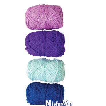 4 ovillos lana tonos azules Nievenver 1100102