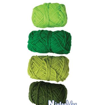 4 ovillos lana tonos verdes Niefenver 1100103