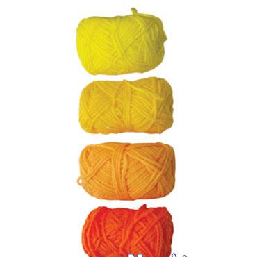 4 ovillos lana tonos amarilloss Niefenver 1100105