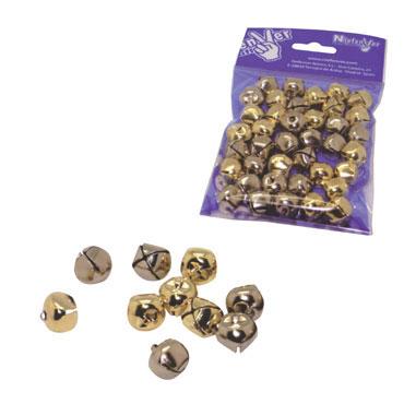 50 cascabeles dorados/plateados Niefenver 1200107