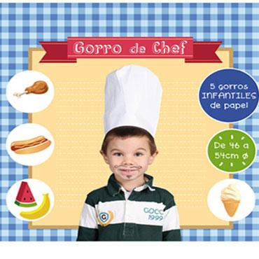 5 gorros Chef infantil Niefenver 1600112
