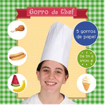 5 gorros Chef estándar Niefenver 1600113