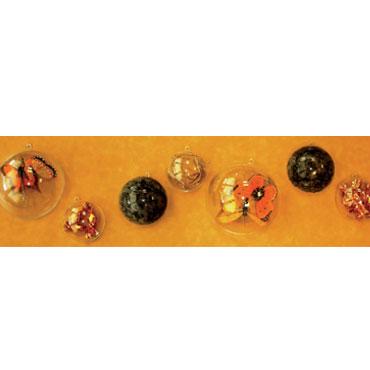 5 bolas de plástico cristal 100 mm. Niefenver 1300151
