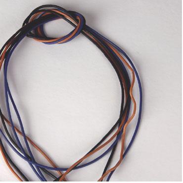 25 cordones azules 1 m. Niefenver 0900178