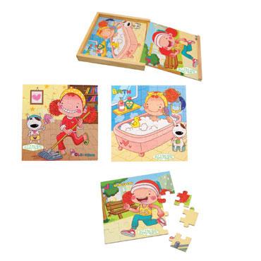 3 puzzles de madera