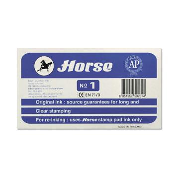 Tampón metálico nº 1 azul Horse