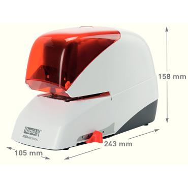 Grapadora eléctrica Rapid 5050e 50HJ plata/naranja 20993214