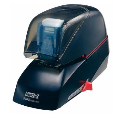 Grapadora eléctrica Rapid 5080e 80hojas color negro