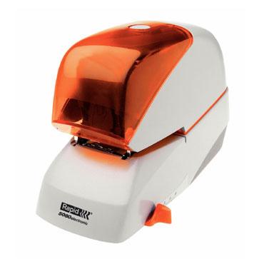 Grapadora eléctrica Rapid 5080e 80hojas color plata/naranja