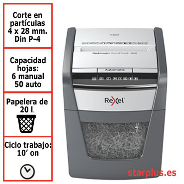 Destructora automática Rexel Optimum AutoFeed 50X