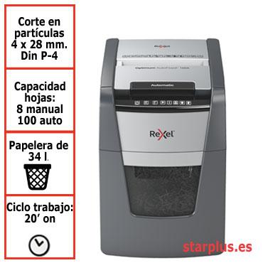 Destructora automática Rexel Optimum AutoFeed 100X