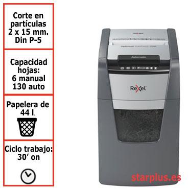 Destructora automática Rexel Optimum AutoFeed 130M microcorte