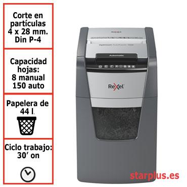 Destructora automática Rexel Optimum AutoFeed 150X