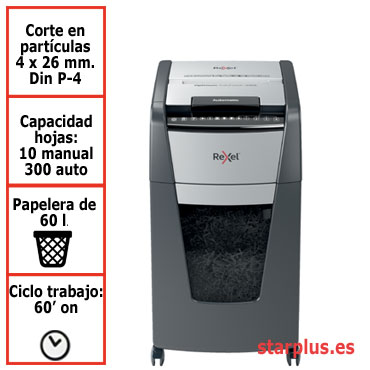 Destructora automática Rexel Optimum AutoFeed 300X