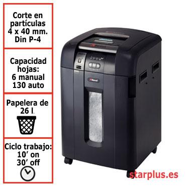 DESCATALOGADA Destructora papel Rexel Auto+ 130X automática 2020150XEU