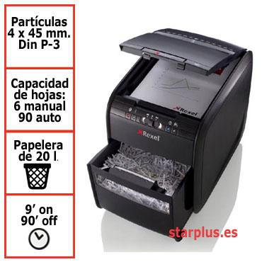 DESCATALOGADA Destructora papel Rexel Optimum Auto+ 100X automática 2020100XEU