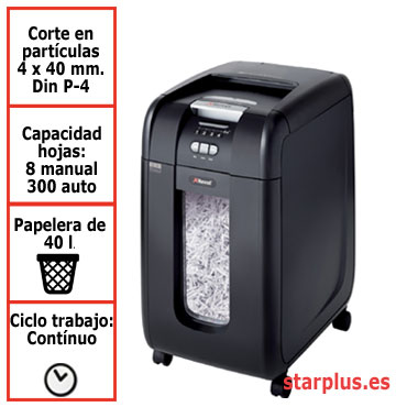 Destructora papel Rexel Auto+ 300X automática 2103250EU