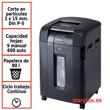 Destructora automática Rexel Auto+ 600M con microcorte