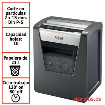 Destructora papel Rexel Momentum M510 uso profesional 2104575EU