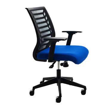 Silla oficina sincronizada 907 azul Rocada RD-907-3