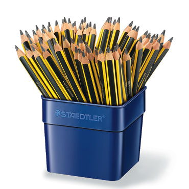 72 lápices de grafito triangular Jumbo Noris Club 119 Staedtler 119