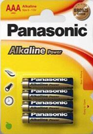 4 pilas alcalinas LR03/AAA Panasonic LR03