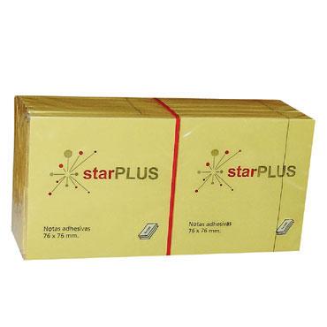 BL100 notas amarillas 76x76 mm. 77080260 starPLUS NOTA76