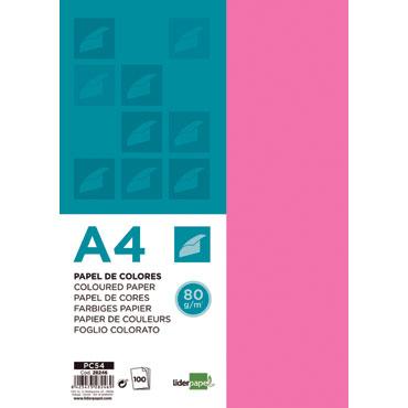 100 hojas papel rosa 80 g/m² Din A-4 Liderpapel 28246