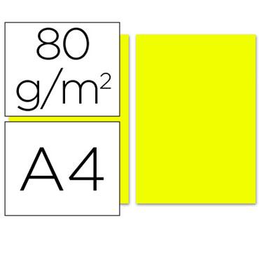 100 hojas papel color limón 80 g/m² Din A-4 Liderpapel 28249