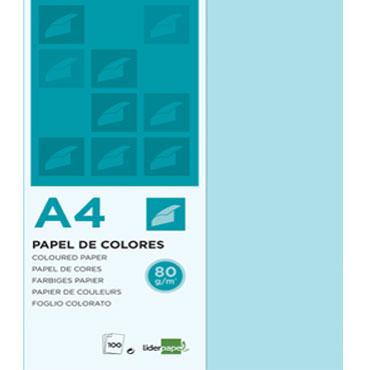 100 hojas papel azul celeste 80 g/m² Din A-4 Liderpapel 28253