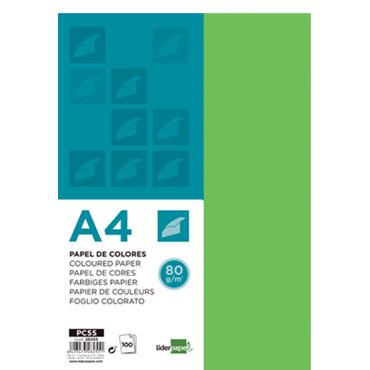 100 hojas papel verde 80 g/m² Din A-4 Liderpapel 28255