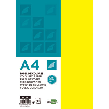 100 hojas papel amarillo 80 g/m² Din A-4 Liderpapel 28258