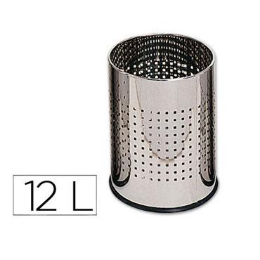 Papelera metálica ø250x325 mm. 29629