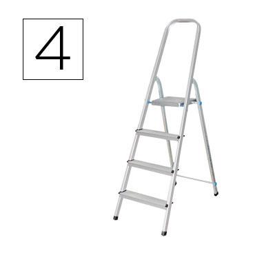 Escalera aluminio 4 peldaños Q-Connect 31967