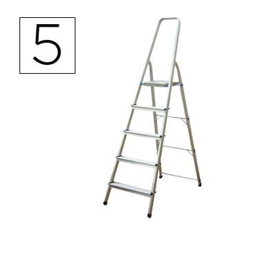 Escalera aluminio 5 peldaños Q-Connect 31968