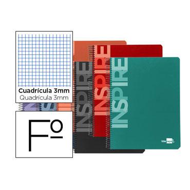 Cuaderno Inspire Folio cC/3mm. Liderpapel 32889