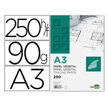 250 láminas vegetal A3 Liderpapel 44402