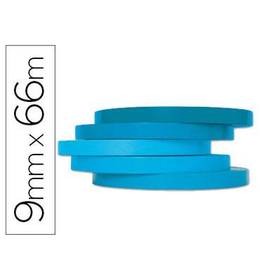 Cinta precintadora azul 66 m. x 9 mm. Q-Connect 46513