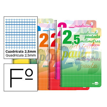 Cuaderno Pautaguía Fº pauta 2,5mm. Liderpapel 51699
