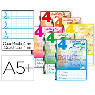 Cuaderno Pautaguía 4º pauta 4mm. Liderpapel 51705