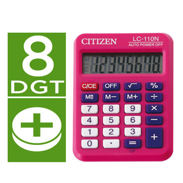 Calculadora LC-110N fucsia Citizen 51883
